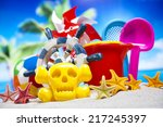 beach accessories | Shutterstock . vector #217245397