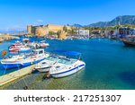 boats in a port in kyrenia ... | Shutterstock . vector #217251307