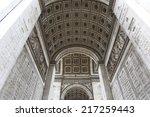 beautiful view of the arc de...   Shutterstock . vector #217259443