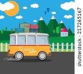 vector illustration of a retro... | Shutterstock .eps vector #217265167