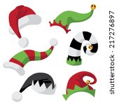a collection of fun holiday... | Shutterstock .eps vector #217276897