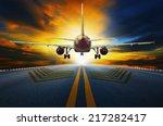 passenger jet plane preparing... | Shutterstock . vector #217282417