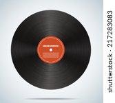 vinyl disk | Shutterstock .eps vector #217283083