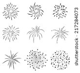 firecrackers set vector | Shutterstock .eps vector #217284073