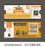 halloween card in train ticket...