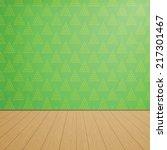 empty room with wooden floors... | Shutterstock .eps vector #217301467