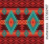 geometric pattern in ethnic... | Shutterstock .eps vector #217302907