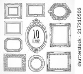 hand drawn vintage frames made... | Shutterstock .eps vector #217310503