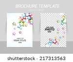 flyer back and front template... | Shutterstock .eps vector #217313563