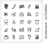 art icons set | Shutterstock .eps vector #217318063