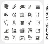 Art icons set | Shutterstock vector #217318063