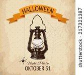 vector  halloween design with... | Shutterstock .eps vector #217321387
