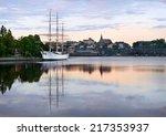 Sailing Ship At Riddarholmen...