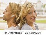 close up of a young couple... | Shutterstock . vector #217354207