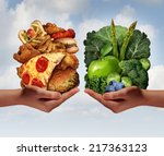 nutrition choice and diet... | Shutterstock . vector #217363123