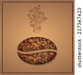 vector coffee background with... | Shutterstock .eps vector #217367623