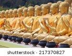 golden buddha statue | Shutterstock . vector #217370827