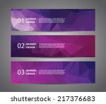 abstract banner with polygon... | Shutterstock .eps vector #217376683