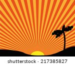 vector drawing of the sun and... | Shutterstock .eps vector #217385827