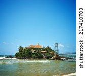 island with buddhist parey duwa ... | Shutterstock . vector #217410703