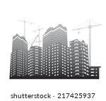 vector construction site with... | Shutterstock .eps vector #217425937