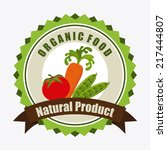organic food label  vector... | Shutterstock .eps vector #217444807