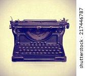 typewriter | Shutterstock . vector #217446787