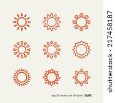 set with icons   the sun. a... | Shutterstock .eps vector #217458187