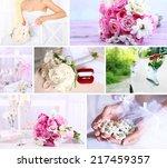 wedding collage | Shutterstock . vector #217459357