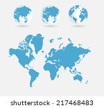 world map  vector illustration | Shutterstock .eps vector #217468483