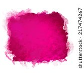 watercolor pink square paint... | Shutterstock .eps vector #217474267