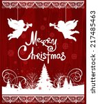 christmas angels. all elements... | Shutterstock .eps vector #217485463
