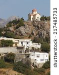 Small photo of Traditional village of Sellia. Crete. Greece. Vertical
