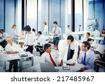 diverse business people working ... | Shutterstock . vector #217485967