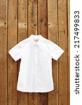 white short sleeved shirt... | Shutterstock . vector #217499833