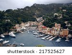 astonishing portofino bay view... | Shutterstock . vector #217525627
