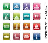 famous scenic spots icons | Shutterstock .eps vector #217530367