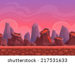 seamless cartoon volcano...