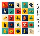 halloween symbols collection.... | Shutterstock .eps vector #217553413