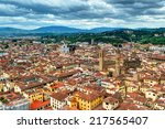 view of florence from the duomo ... | Shutterstock . vector #217565407