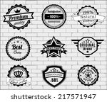 set of vector badges and labels ... | Shutterstock .eps vector #217571947