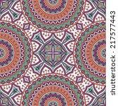 indian seamless pattern.... | Shutterstock .eps vector #217577443