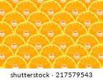 half of orange isolated on... | Shutterstock . vector #217579543