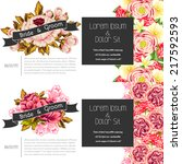 wedding invitation cards with... | Shutterstock .eps vector #217592593