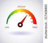 tachometer icon. vector eps10   Shutterstock .eps vector #217608883