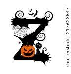 halloween alphabet. set of... | Shutterstock .eps vector #217623847