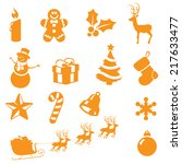 individually grouped christmas... | Shutterstock .eps vector #217633477