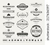 retro vintage insignias or... | Shutterstock .eps vector #217636597