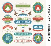 christmas decoration vector... | Shutterstock .eps vector #217636633