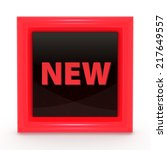 new square icon on white... | Shutterstock . vector #217649557